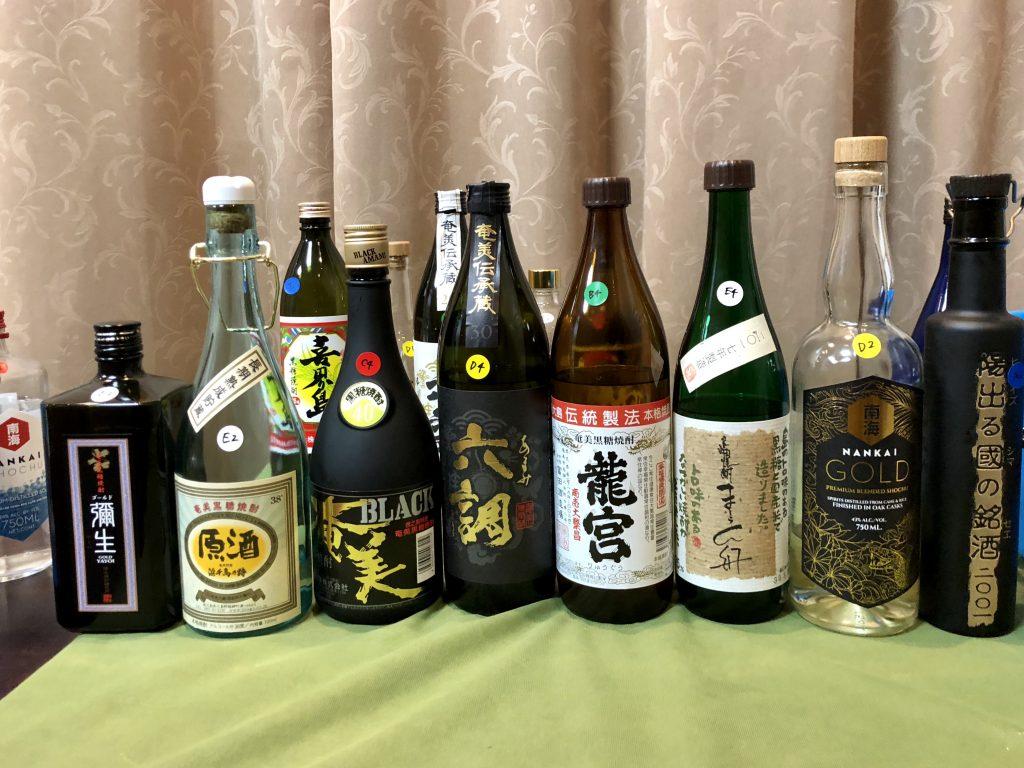 assorted kokuto shochu